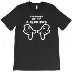 property of my girlfriend cartoon hands funny T-Shirt | Artistshot