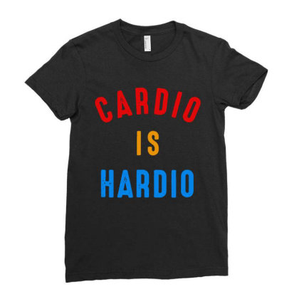 Cardio Is Hardio Ladies Fitted T-shirt Designed By Leo Art