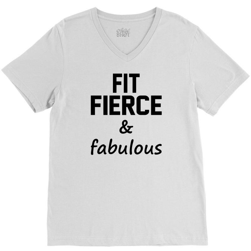 Fit Fierce And Fabulous V-neck Tee | Artistshot
