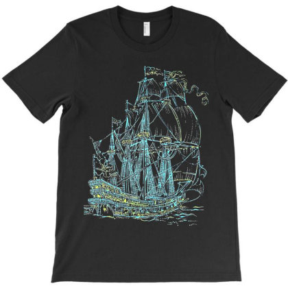 Blacklight Ship T-shirt Designed By Roger Retro