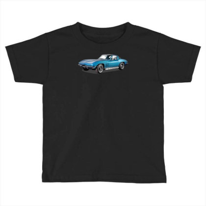 1965 Corvette Sting Ray Classic Car, Ideal Birthday Gift Or Pres Toddler T-shirt Designed By Rs Shop