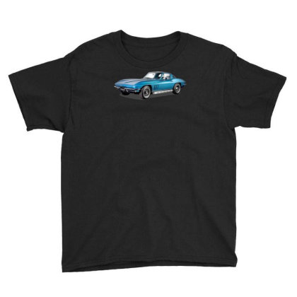 1965 Corvette Sting Ray Classic Car, Ideal Birthday Gift Or Pres Youth Tee Designed By Rs Shop