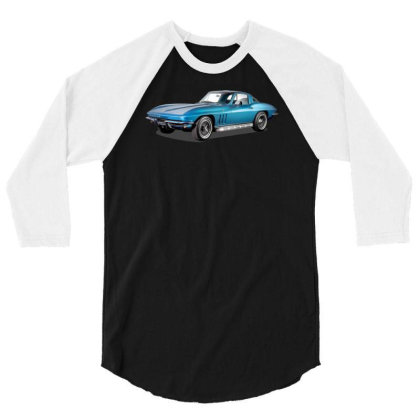 1965 Corvette Sting Ray Classic Car, Ideal Birthday Gift Or Pres 3/4 Sleeve Shirt Designed By Rs Shop