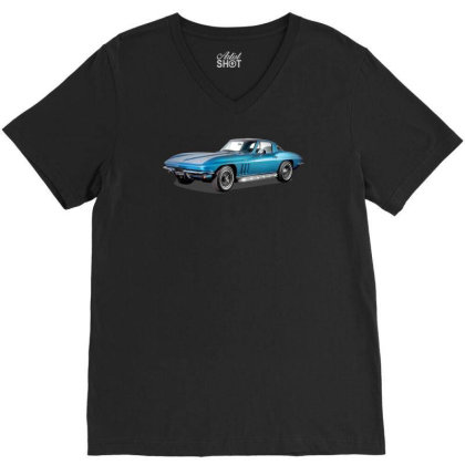 1965 Corvette Sting Ray Classic Car, Ideal Birthday Gift Or Pres V-neck Tee Designed By Rs Shop