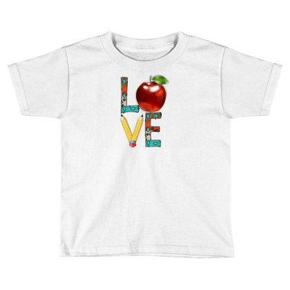 Love Teacher Toddler T-shirt Designed By Badaudesign