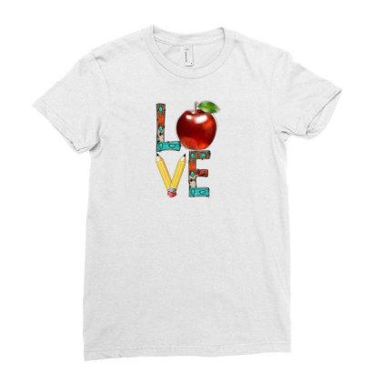 Love Teacher Ladies Fitted T-shirt Designed By Badaudesign