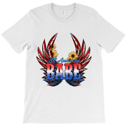 All America Babe T-shirt Designed By Jahusdesignshop