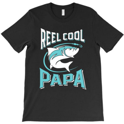 Reel Cool Papa | Father's Day T-shirt Designed By Cidolopez