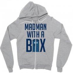 Madman with a box Zipper Hoodie | Artistshot