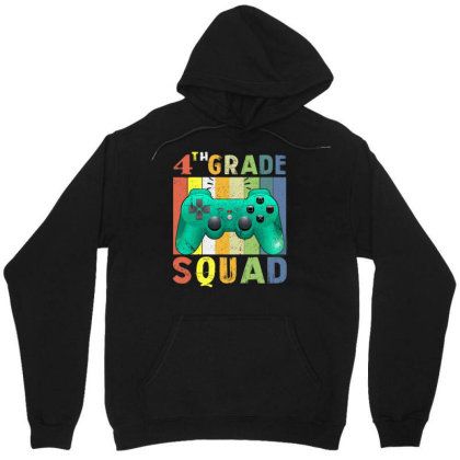 4th Grade Squad Video Game Back To School Unisex Hoodie Designed By Rishart