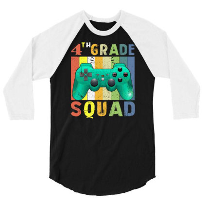 4th Grade Squad Video Game Back To School 3/4 Sleeve Shirt Designed By Rishart