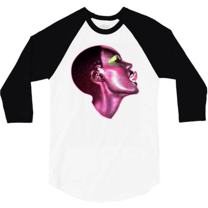 Grace Jones 80s Model Walk Magazine Cele 3/4 Sleeve Shirt Designed By Wowotees