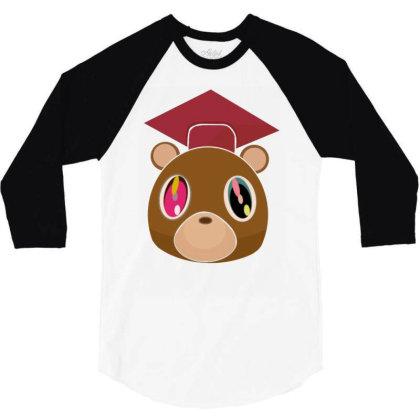 Graduation Bear Kanye West 3/4 Sleeve Shirt Designed By Wowotees