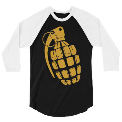 Granate Grenade Waffe Weapon Krieg War Pc Game Classic Usa Army 3/4 Sleeve Shirt Designed By Wowotees