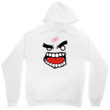 Anger Tee (flat Version) Unisex Hoodie Designed By Rs Shop