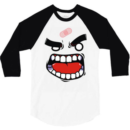 Anger Tee (flat Version) 3/4 Sleeve Shirt Designed By Rs Shop