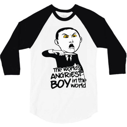 Angriest Boy In The World 3/4 Sleeve Shirt Designed By Rs Shop