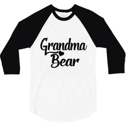 Grandma Bear 3/4 Sleeve Shirt Designed By Wowotees