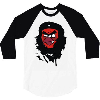 Angry Che 3/4 Sleeve Shirt Designed By Rs Shop