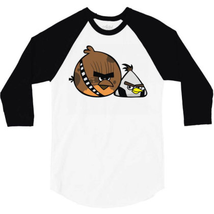 Angry Chewie Han 3/4 Sleeve Shirt Designed By Rs Shop