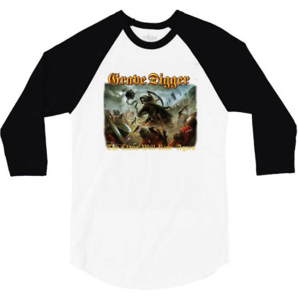 Grave Digger The Clans Will Rise Again 3/4 Sleeve Shirt Designed By Wowotees