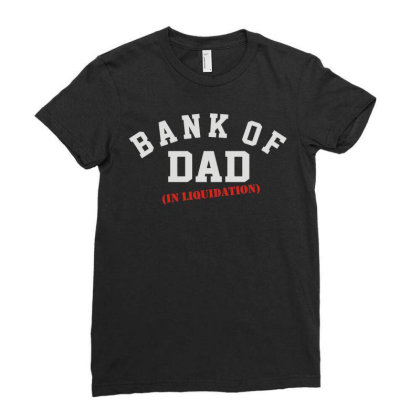 Bank Of Dad Ladies Fitted T-shirt Designed By Rs Shop