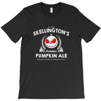 Skellington'spumpkin Ale T-shirt Designed By Achmad
