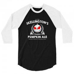 Skellington'spumpkin ale 3/4 Sleeve Shirt | Artistshot