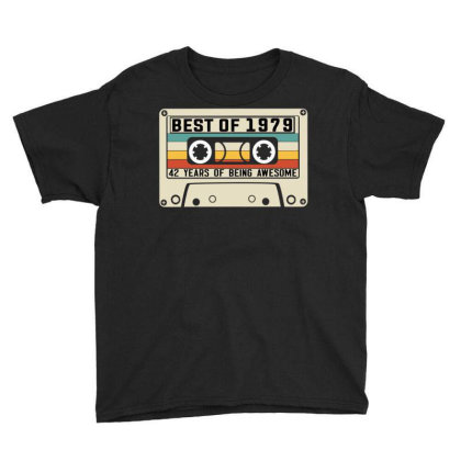 Vintage Best Of 1979 42 Years Old Birthday Cassette Tape Youth Tee