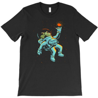 Space Frog Astronaut T-shirt Designed By Sakatiar