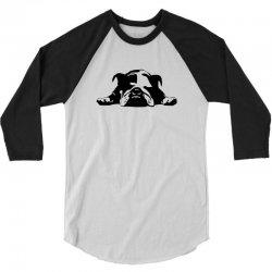 bulldog stencil womens t shirt 3/4 Sleeve Shirt   Artistshot