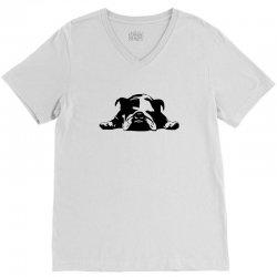bulldog stencil womens t shirt V-Neck Tee   Artistshot
