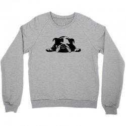 bulldog stencil womens t shirt Crewneck Sweatshirt   Artistshot