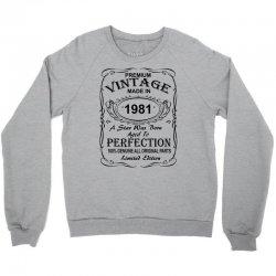 Birthday Gift Ideas for Men and Women was born 1981 Crewneck Sweatshirt | Artistshot