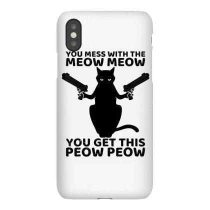 Funny Cat With Guns Iphonex Case Designed By Ninja Art