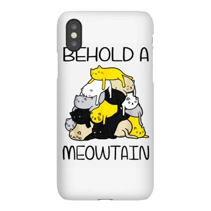 Funny Cat Shirt Behold A Meowtain Iphonex Case Designed By Ninja Art