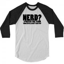 funny t shirts tops rude slogan tee joke shirt humour more intelligent than you 3/4 Sleeve Shirt | Artistshot