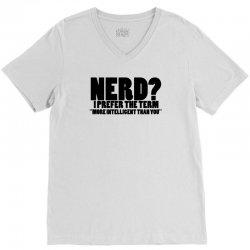 funny t shirts tops rude slogan tee joke shirt humour more intelligent than you V-Neck Tee | Artistshot