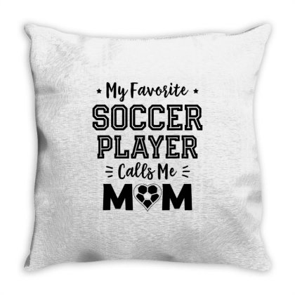 My Favorite Soccer Throw Pillow Designed By William Art