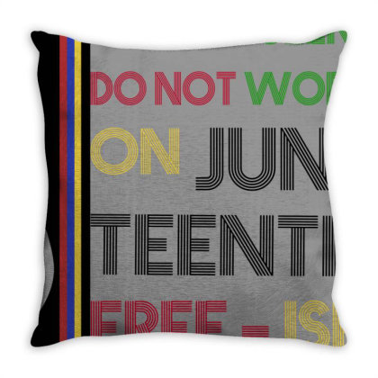 Free Ish On Juneteeth Throw Pillow Designed By Cuser2397
