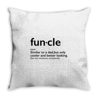 Funcle Throw Pillow Designed By Ninja Art