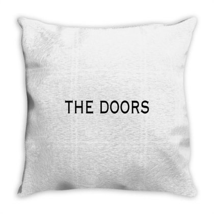 The Doors Jim Morrison Band Throw Pillow Designed By Oktaviany