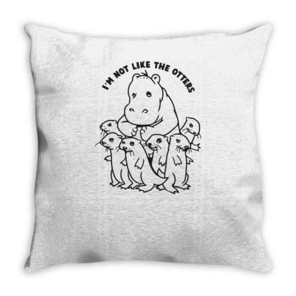 Not Like The Otters Throw Pillow Designed By Garrys4b4