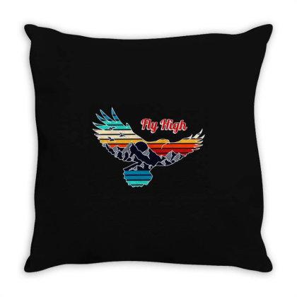 Fly High Throw Pillow Designed By Ninja Art