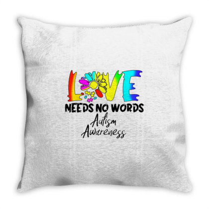 Love Needs No Words Flower Throw Pillow Designed By William Art