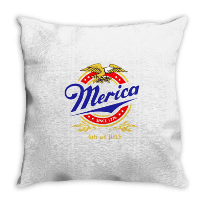 Merica Since 1776 Throw Pillow Designed By William Art
