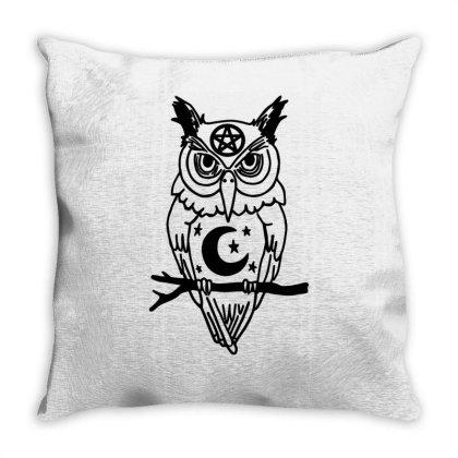 Pagan Owl Throw Pillow Designed By Garrys4b4