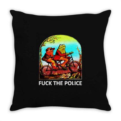 Fck The Police Vintage Throw Pillow Designed By Ninja Art