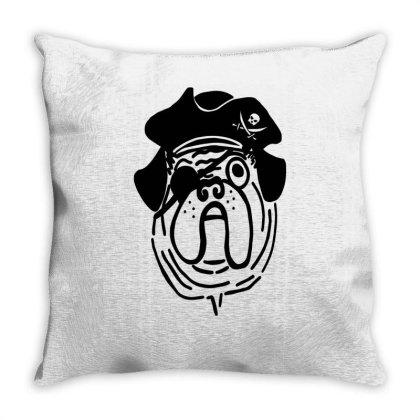 Pirate Pug Throw Pillow Designed By Garrys4b4