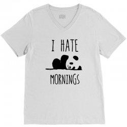 i hate morning V-Neck Tee | Artistshot